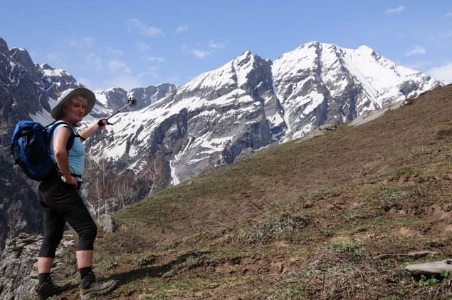L'un des pics qui nous entourent qui culminent pour la plupart à plus de 6 000 m