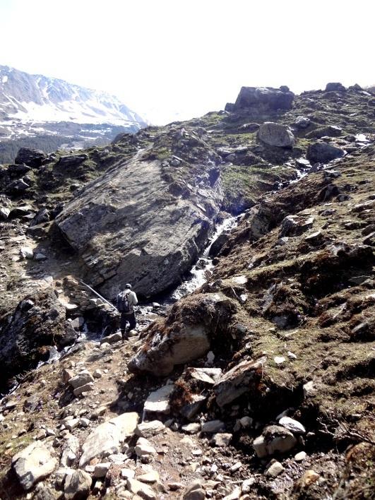 Après la neige, les rochers