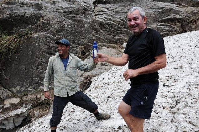 Gérald veut garder un souvenir de la montagne