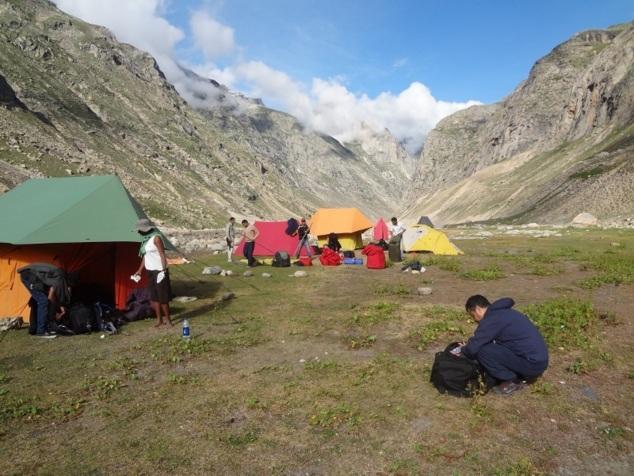 Camp 1 au petit matin