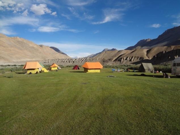 Camp 2 - à Rangrik, sur les bords de la SPITI