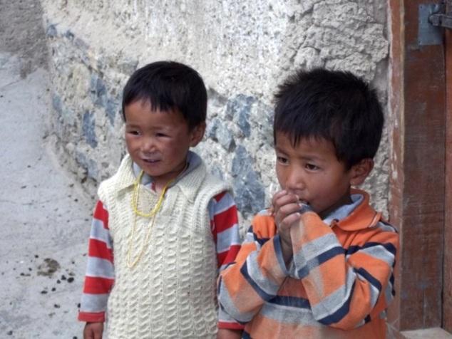 Enfants à Kibber