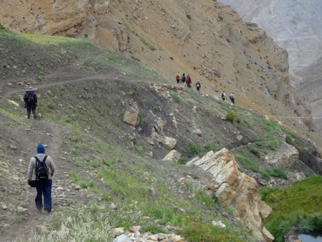 La descente durera une dizaine de kms environ