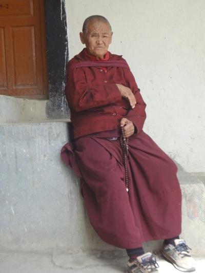 Nonne en visite à Kungri