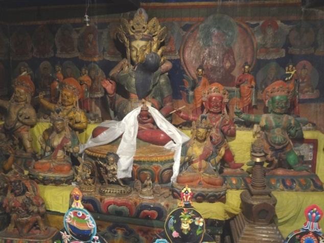 Vajradhara, le Bouddha guru, avec lequel s'unit le dévôt