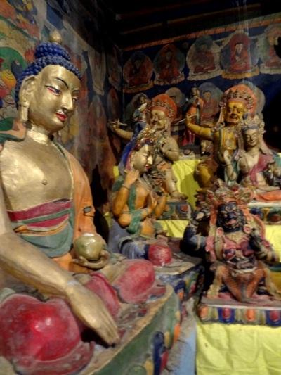 Bouddha et déités tantriques