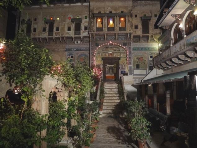 Notre hôtel : une ancienne haveli très romantique