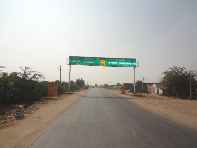 En route vers Jaisalmer.