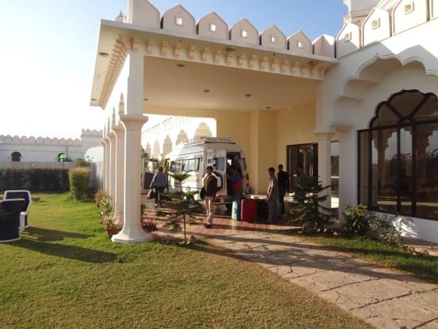 Départ pour l'étape suivante : Jaipur.