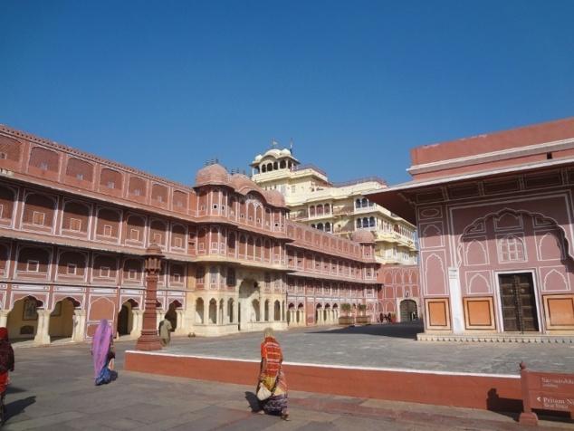 """Le palais de Jaipur, le """"City Palace""""."""