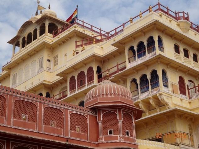 """Le """" Chandra Mahal """", résidence de la famille royale."""