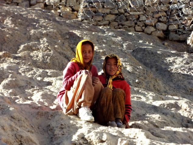 Petites bergères à Dhankar