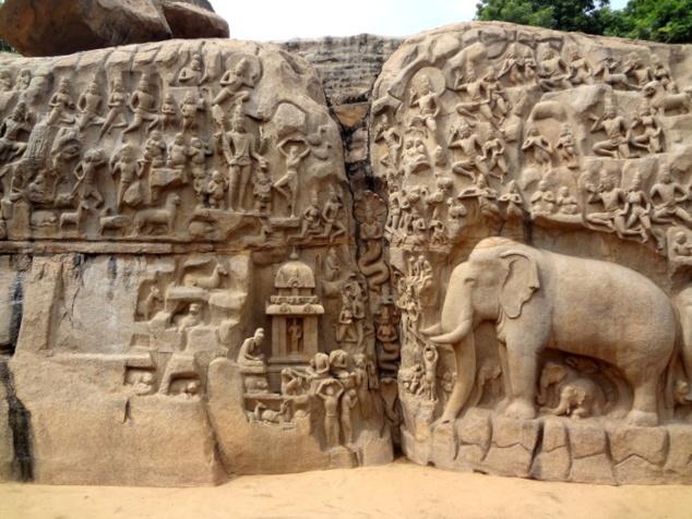 Le bas-relief emblématique de Mahabalipuram: la