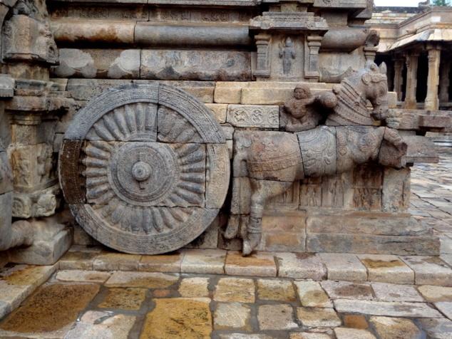 Le temple est comme monté sur un chariot (ratha).