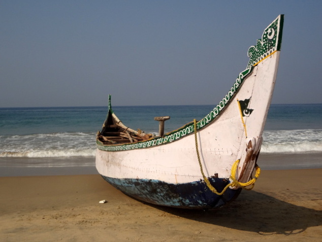 Les barques font partie du décors et rehaussent la beauté du site.