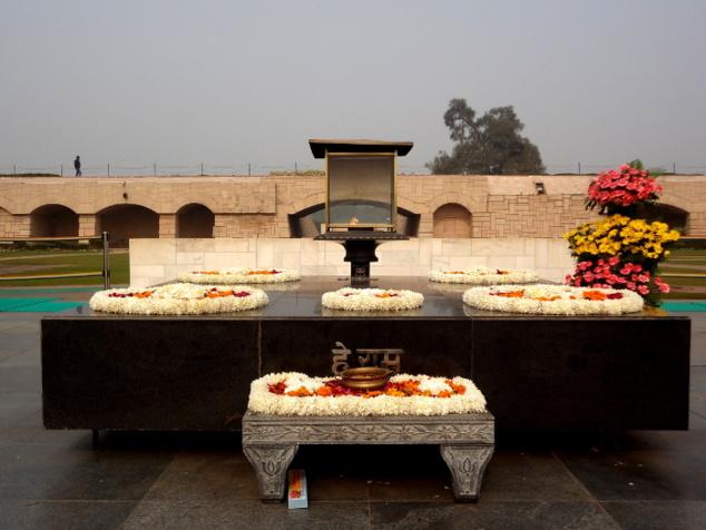 Nous nous sommes rendus le tout premier jour au mémorial de Gandhi.