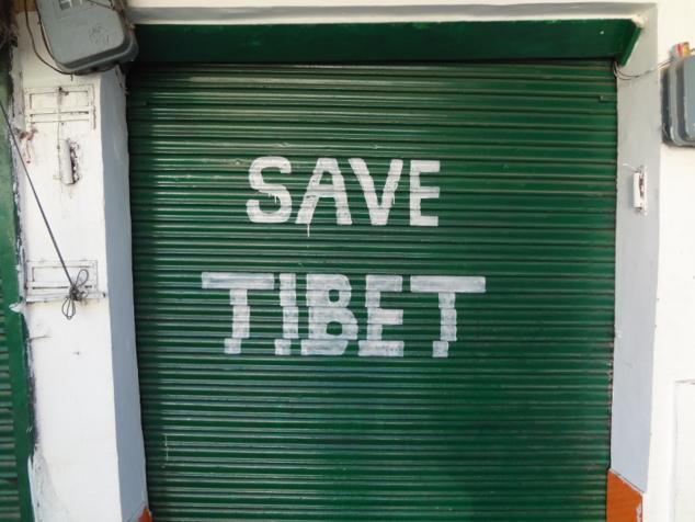 Slogan pour sauver le Tibet libre