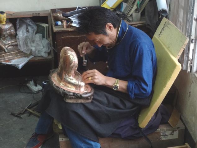Fabrication d'une statuette