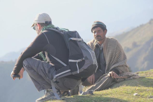 Au sommet nous avons discuté avec un berger. Lui, il ne gravit pas la montagne pour son plaisir.
