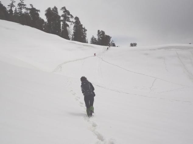 Derniers pas jusqu'au sommet de la colline ...  les plus difficiles