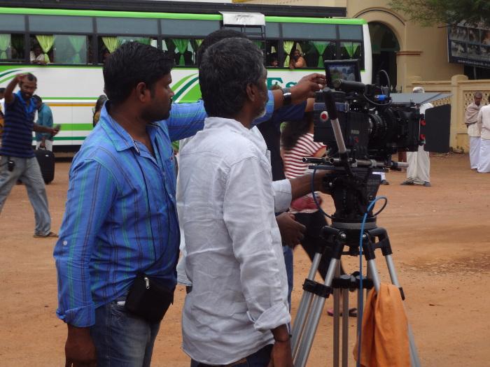 Alors que nous étions au Chettinad, nous avons assisté au tournage d'un film. L'endroit offre un décor de rêve pour les réalisateurs.