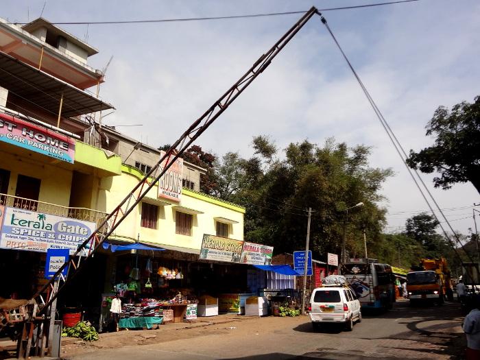 Check post pour passer du Tamil Nadu au Kerala. Une taxe est prélevée pour passer d'un état à l'autre.