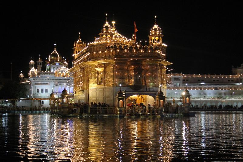 le Temple d'Or, le centre spirituel de la religion des Sikhs